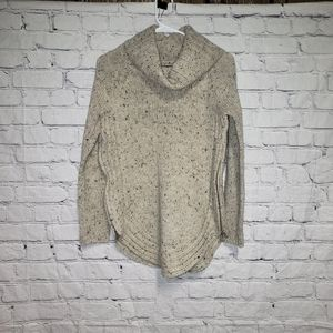 Cynthia Rowley Cowl Neck Side Zip Wool Sweater